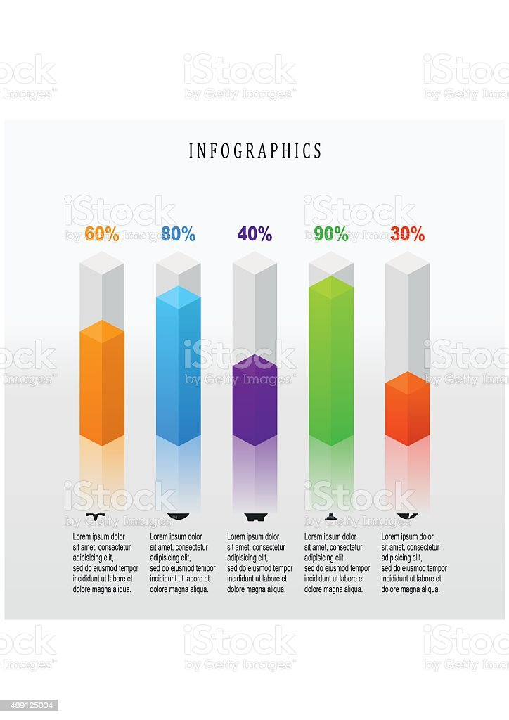 Digital illustration Infographic. Abstract 3D. vector art illustration