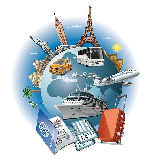 トラベルビジネス - 旅行代理店点のイラスト素材/クリップアート素材/マンガ素材/アイコン素材