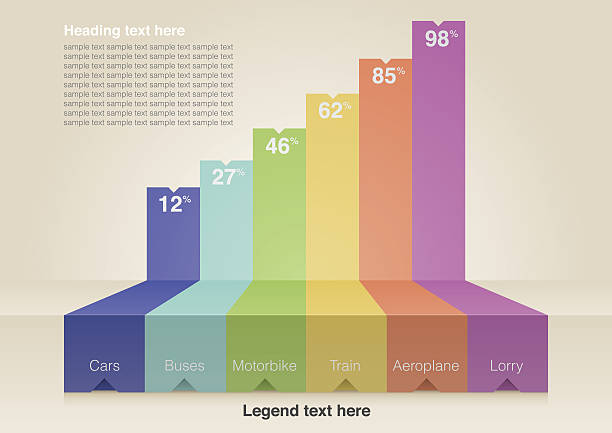 Digital image of bar chart infographic template vector art illustration