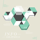 modern vector abstract hexagon infographic elements