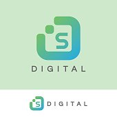 icon template with digital element