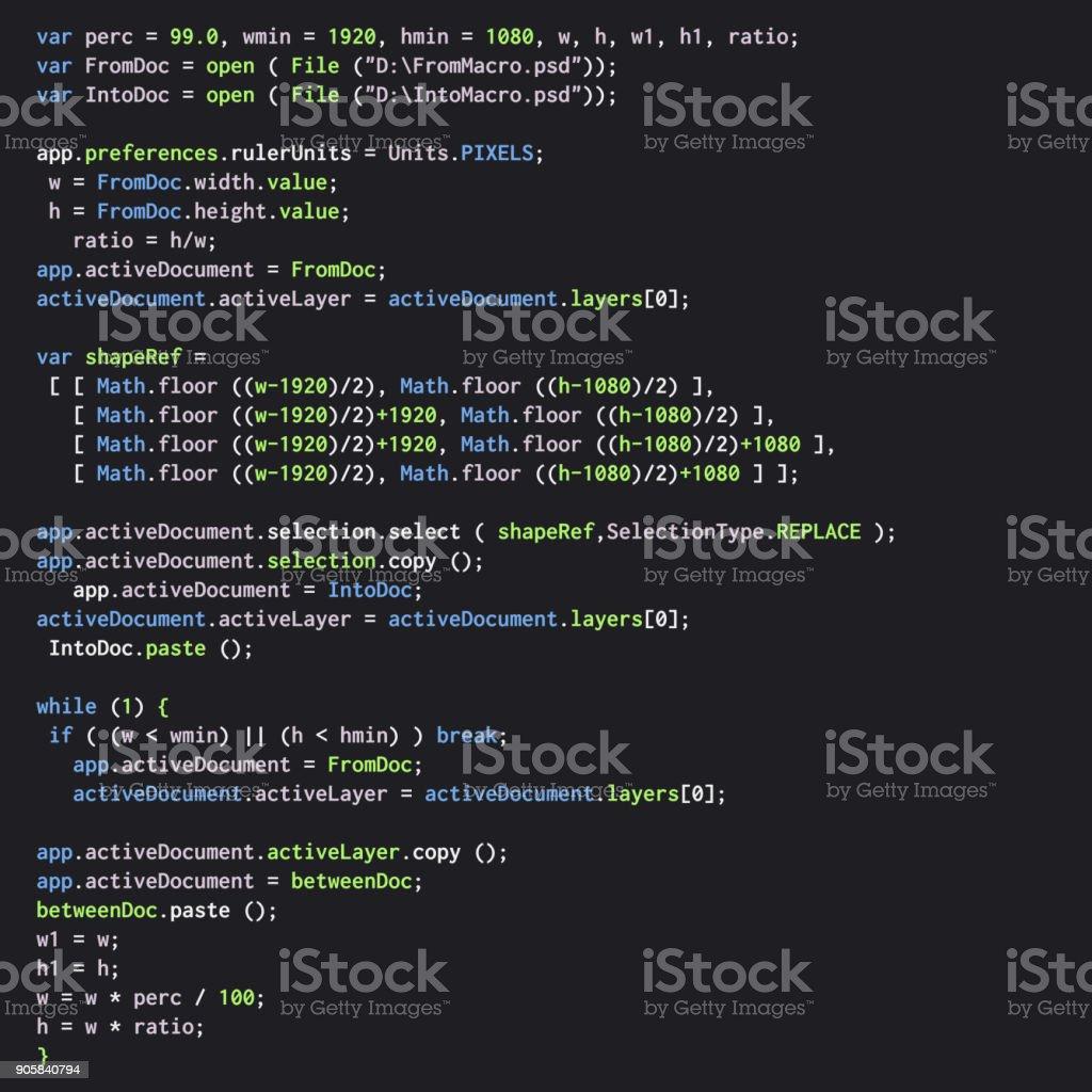 Digital java code text. Computer software coding vector concept vector art illustration