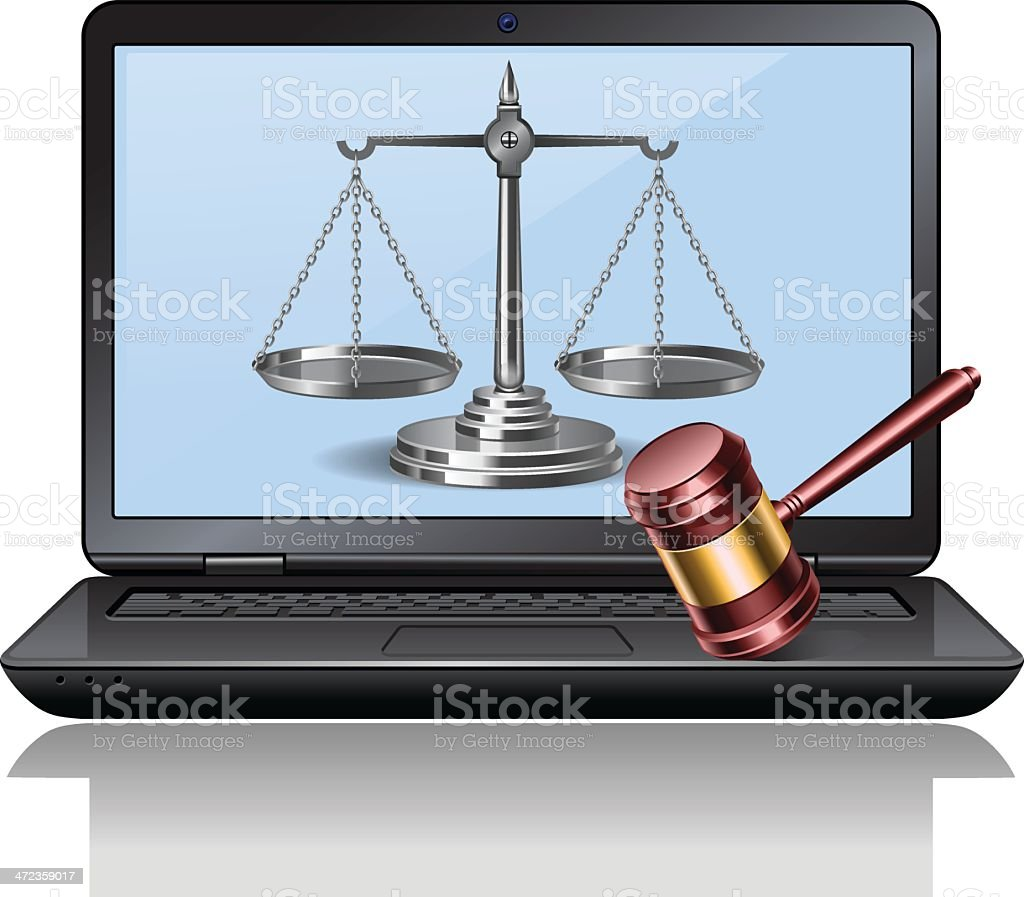 Digital law royalty-free stock vector art