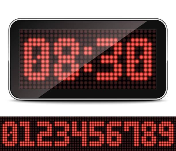 Digitale LED Uhr, Vektor-Illustration – Vektorgrafik