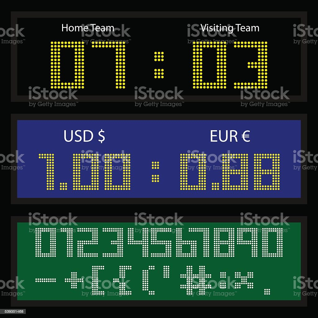 Digital Led Display Board Stock Illustration - Download Image Now