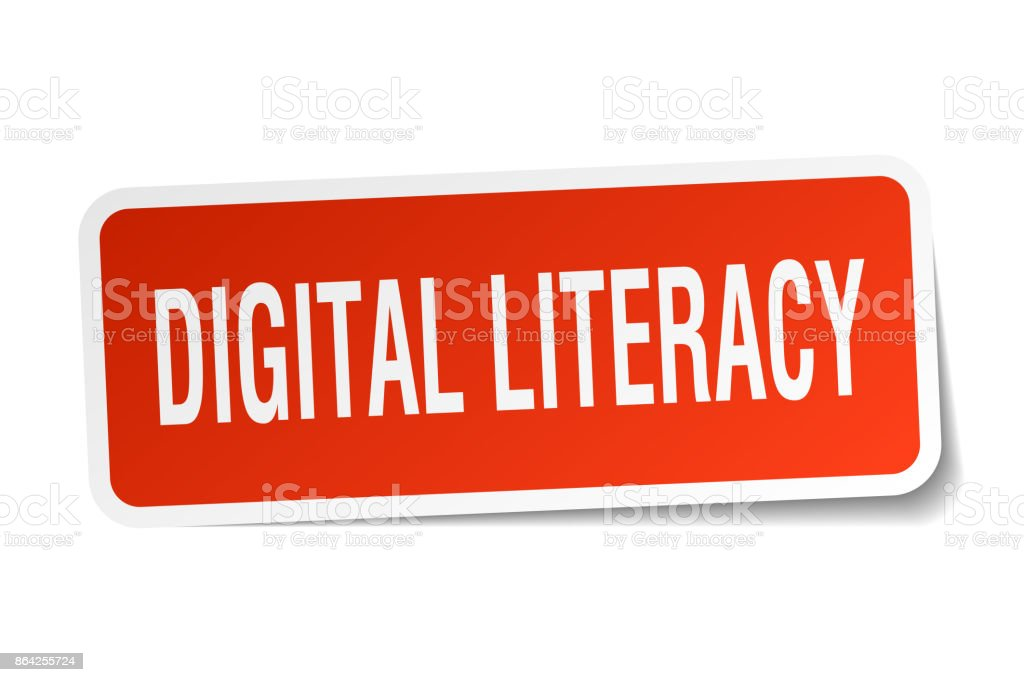 digital literacy square sticker on white royalty-free digital literacy square sticker on white stock vector art & more images of badge