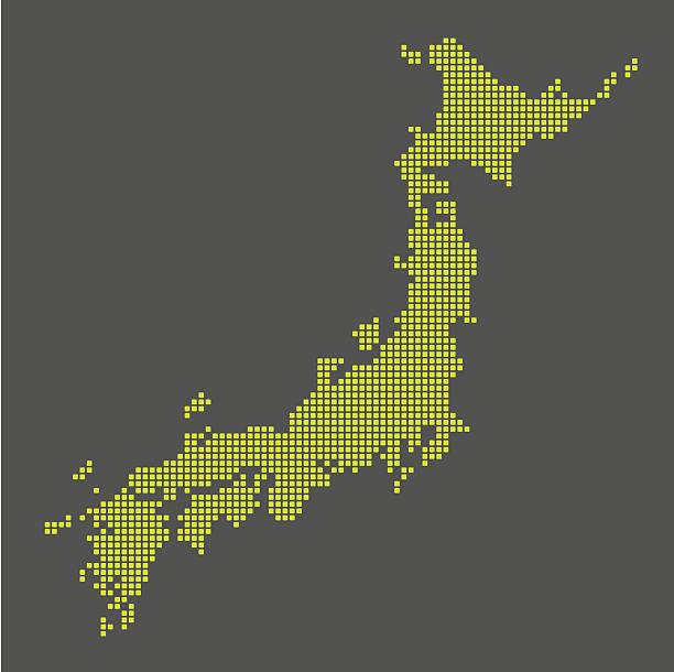 日本のデジタルマップ - 日本 地図点のイラスト素材/クリップアート素材/マンガ素材/アイコン素材