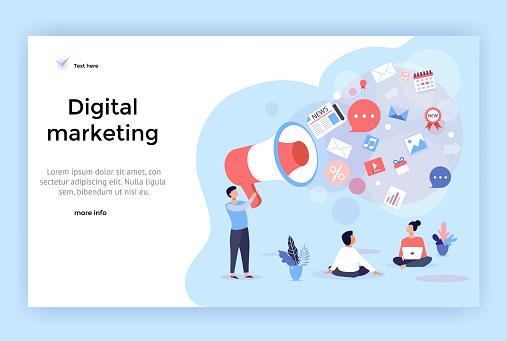 Digital marketing concept illustration.