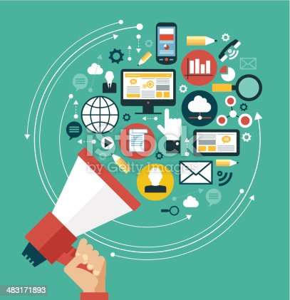 istock Digital marketing concept 483171893