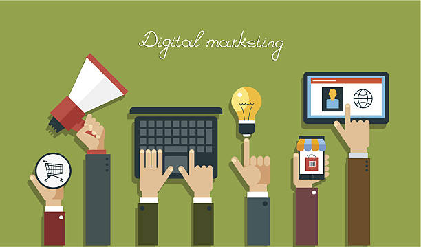 Digitale marketing-Konzept – Vektorgrafik