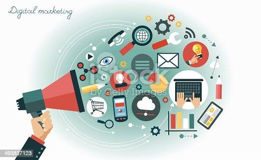istock Digital marketing concept 493837123