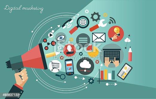 istock Digital marketing concept 493837133