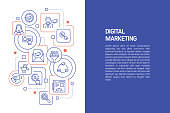 istock Digital Marketing Concept, Vector Illustration of Digital Marketing with Icons 1307620521
