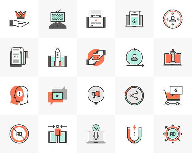 Digital Marketing Futuro Next Icons Pack vector art illustration