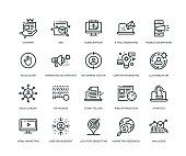 Digital Marketing Icons - Line Series