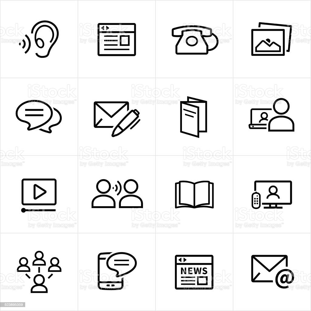 Digital Marketing Icons - Line Style vector art illustration