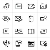 Digital Marketing Icons - Line Style