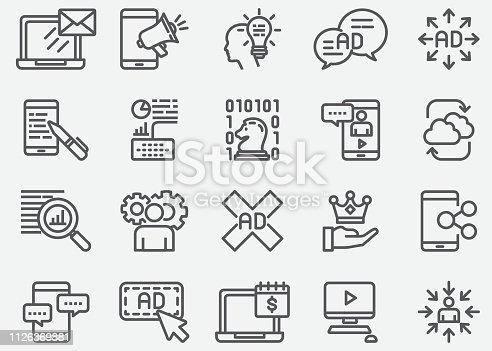Digital Marketing Line Icons
