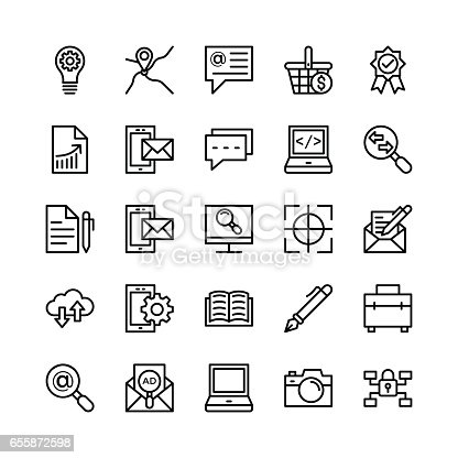 istock Digital Marketing Line Vector Icons 6 655872598