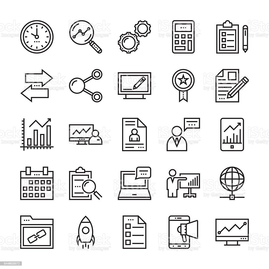Digital Marketing Vector Icons 4 vector art illustration