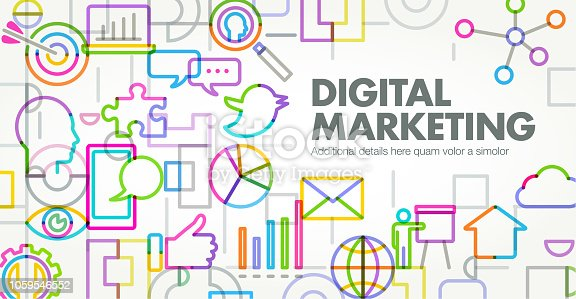 Abstract Geometric Digital Marketing Business concept template banner