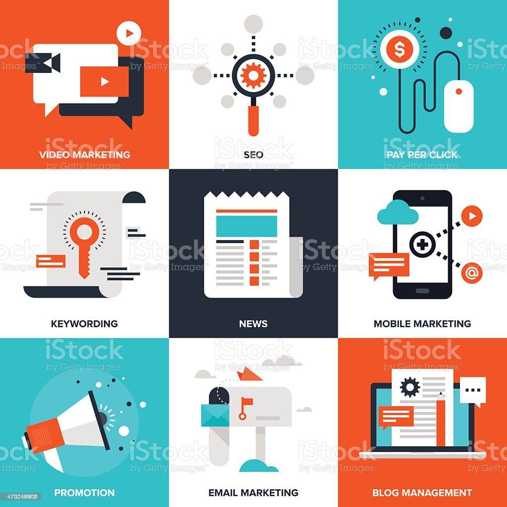 Digital Marketing vector art illustration