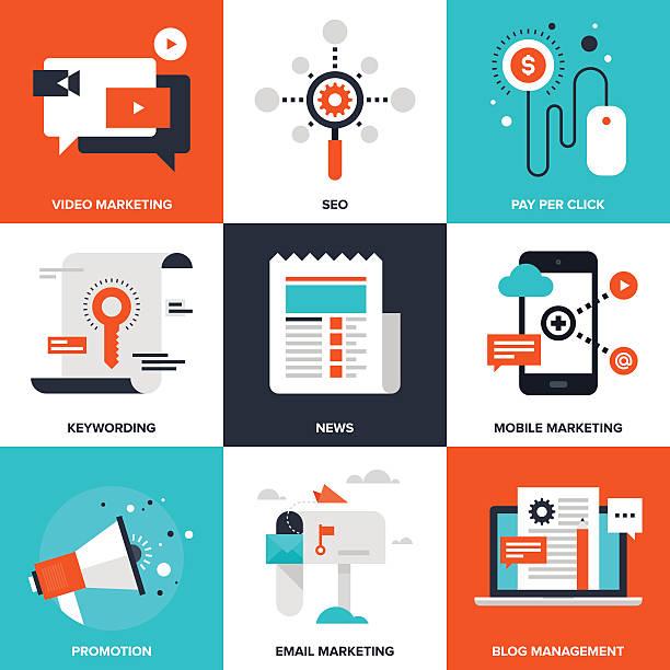 Digitales Marketing – Vektorgrafik
