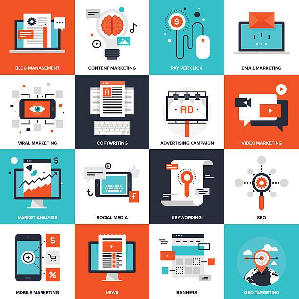 Marketing numérique  - Illustration vectorielle