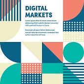 Abstract vector digital markets web banner and advertisement design. Can be used for brochures, reports, posters, presentations, banners or web pages.