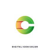 Digital Media Chat Colorful Illustration Vector Design Template. Suitable for Creative Industry, Multimedia, entertainment, Educations, Shop, and any related business.