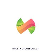 Digital Media Icon Colorful Illustration Vector Design Template. Suitable for Creative Industry, Multimedia, entertainment, Educations, Shop, and any related business.