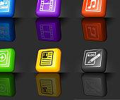 digital media Web 2.0 internet icon set