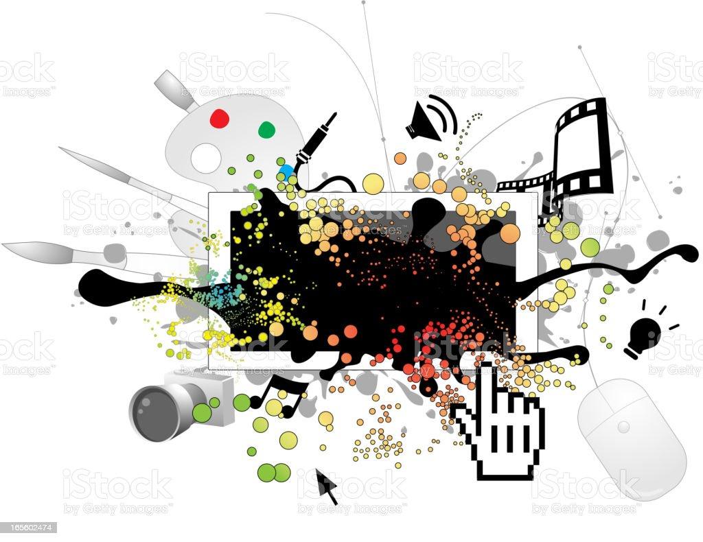 Digital Media vector art illustration