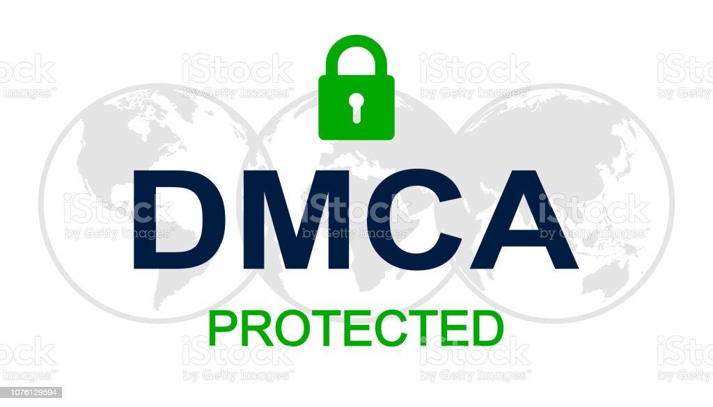 Dmca Digital Millennium Copyright Act Vector Stock Illustration