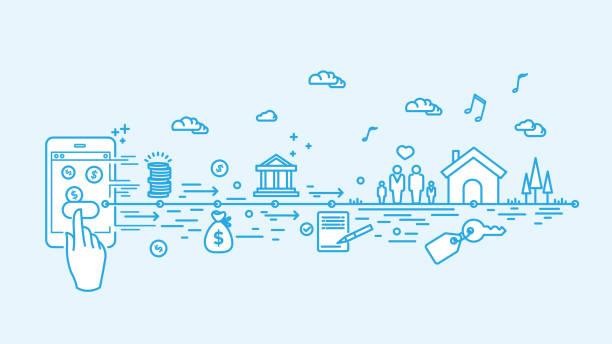 Hypothèque numérique - Illustration vectorielle