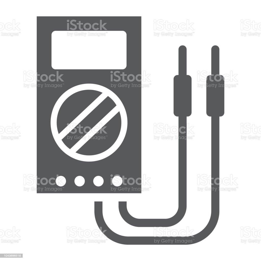 digitale multimeter glyphsymbol werkzeug und instrument elektrische