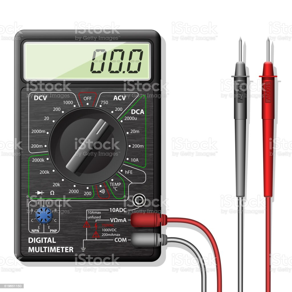Digital multimeter, vector vector art illustration