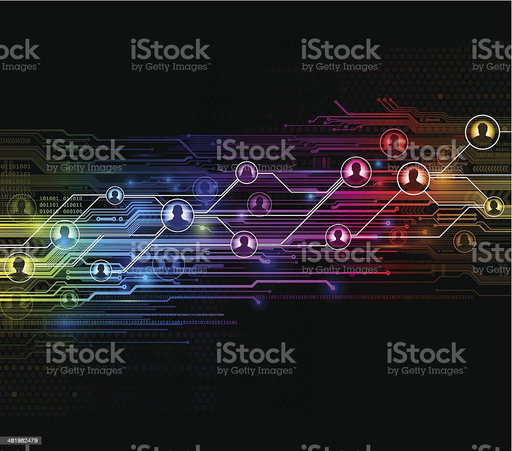 Digital network background royalty-free stock vector art