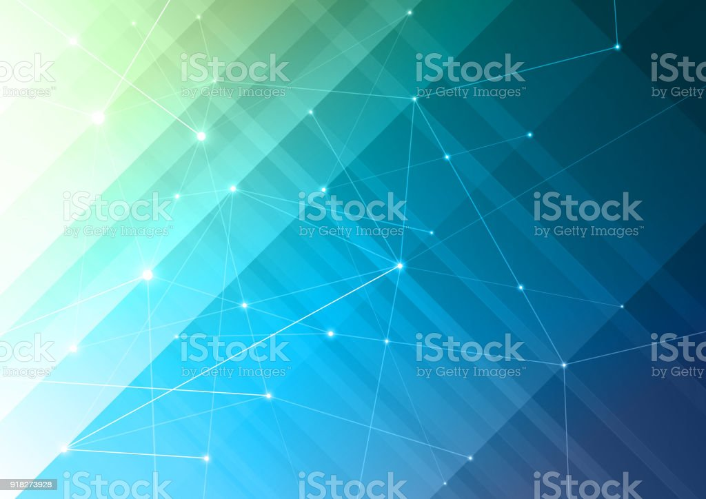 Digital network background - arte vettoriale royalty-free di Astratto