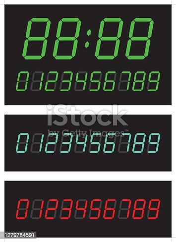 istock Digital numbers 1279784591
