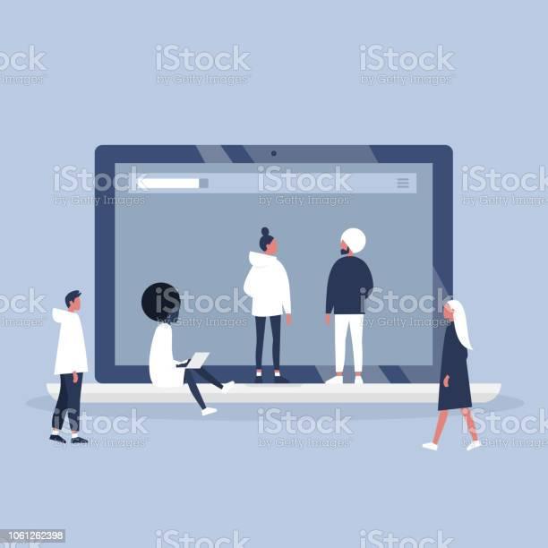 Digital online teamwork a group of young professionals working on a vector id1061262398?b=1&k=6&m=1061262398&s=612x612&h=vrkwnxum 7de3z qkkvuuh ljowchmgnavldq7l rxk=