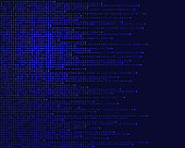 data pixels abstract background