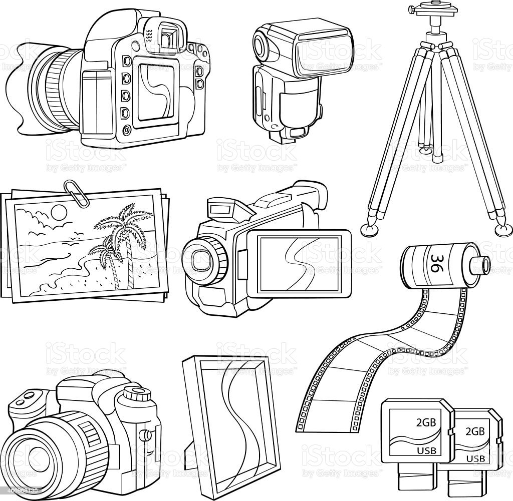 Digital Poducts vector art illustration