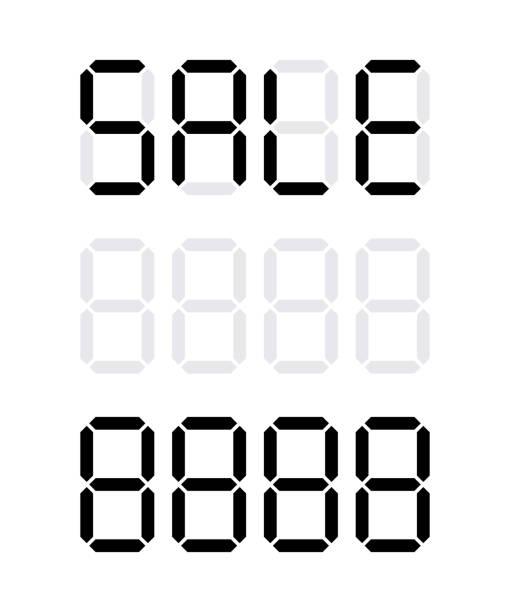 디지털 가격표 - 가격 stock illustrations