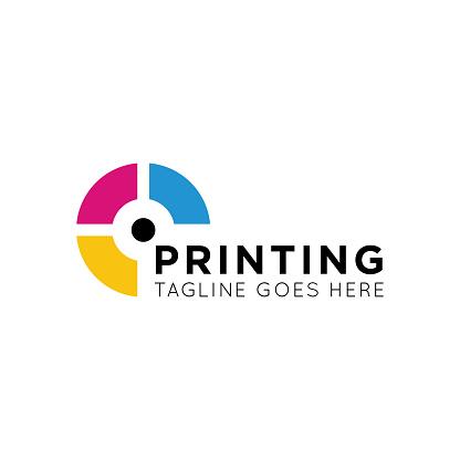 digital print icon and photo print icon vector illustration