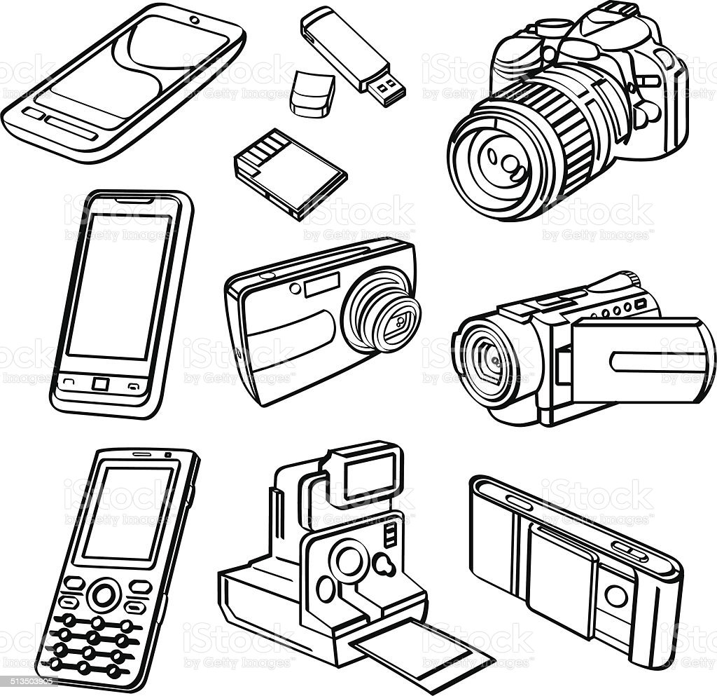 Digital Products Collection vector art illustration