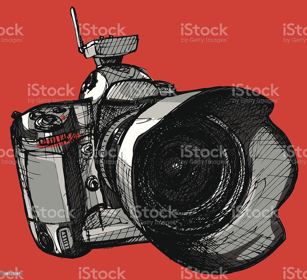 digital professional camera royalty-free digital professional camera stock vector art & more images of black color
