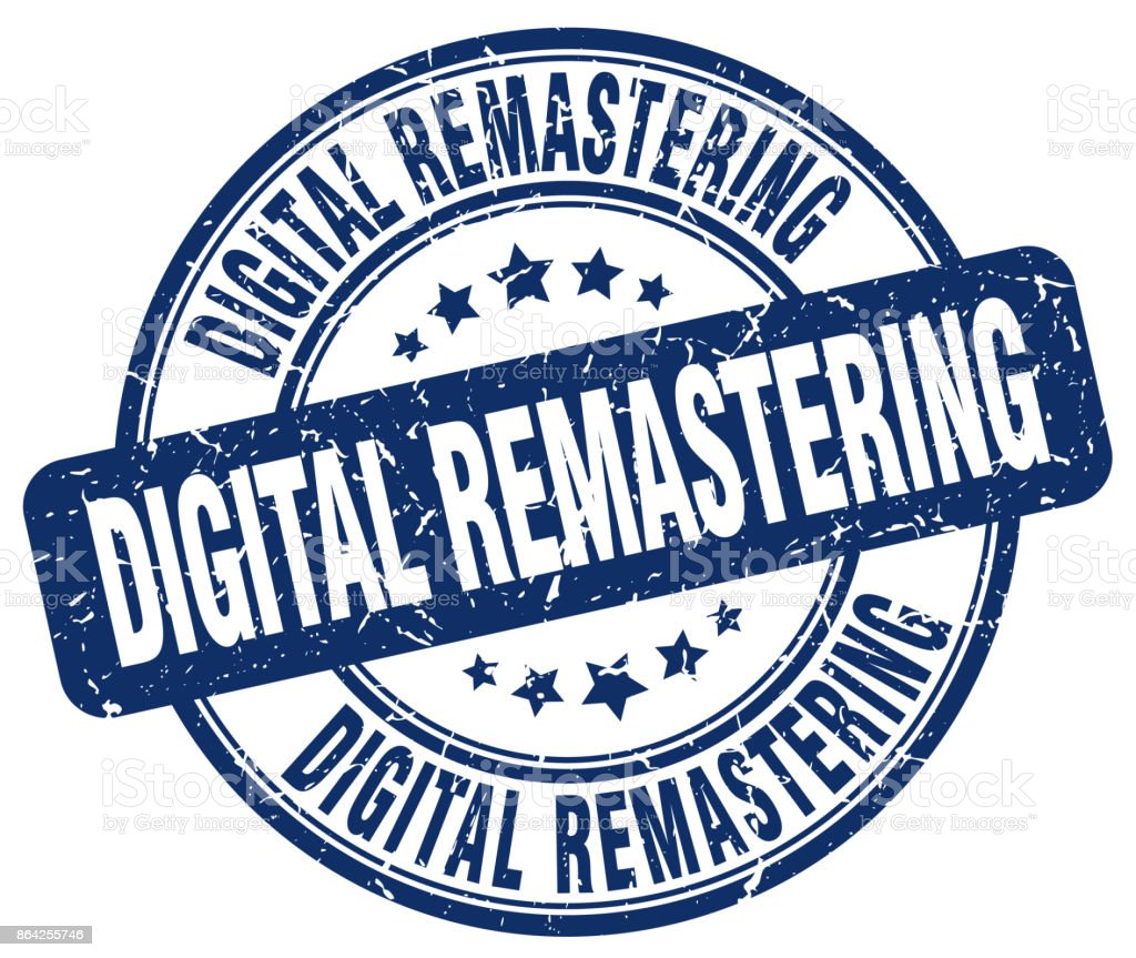 digital remastering blue grunge stamp royalty-free digital remastering blue grunge stamp stock vector art & more images of badge