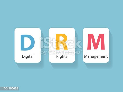 istock DRM Digital Rights Management concept 1304195662