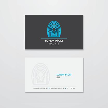 Digital security logo and business card design